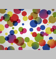 abstract background of colorful circle pattern vector image vector image