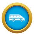 ambulance emergency van icon blue isolated vector image vector image