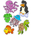 aquatic animals collection 2 vector image vector image