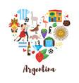 argentina national cultural symbols vector image