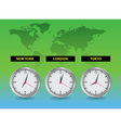 around world time vector image vector image