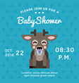 Baby shower invitation template with little deer vector image vector image