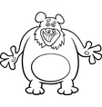 bear cartoon for coloring book vector image vector image
