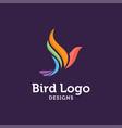 bird logo ilustrator vector image vector image