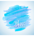 Blue watercolor stain design element vector image vector image