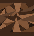 brown triangle pattern vector image vector image