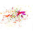 Brush strokes and paint splashes vector image vector image