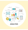 Business analysis concept vector image vector image