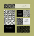 business cards design ethnic vintage ornament vector image vector image