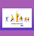 business creative copywriter teamwork landing page vector image