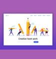 business creative copywriter teamwork landing page vector image vector image