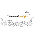 business data report financial analysis concept vector image vector image