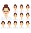 business woman expressions set vector image vector image