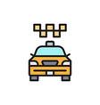 cab taxi city car public transport flat color vector image
