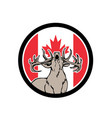 canadian stag deer canada flag icon vector image vector image