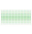 cannabis shape halftone array vector image vector image