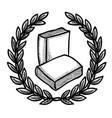 cartoon image of book icon education symbol vector image vector image