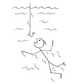 cartoon of man or businessman swimming to be vector image
