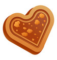 choco heart biscuit icon cartoon style vector image vector image