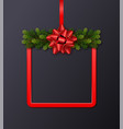 christmas holiday greeting card with copy space vector image