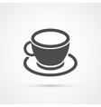 Coffee cup trendy icon vector image vector image