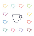 coffee flat icons set vector image