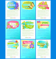 collection spring big sale off advertisement label vector image vector image