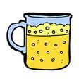 comic cartoon mug of beer vector image vector image