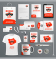 corporate identity items japanese sushi vector image vector image