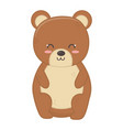 cute bear toy sitting on white background vector image vector image