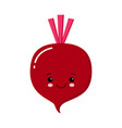 cute beet icon red beetroot vegetable vector image vector image