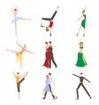 Dancing Styles Flat design vector image vector image