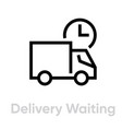 delivery waiting truck icon editable line vector image vector image