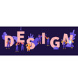 design concept building construction process vector image vector image