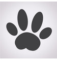 dog paw icon vector image