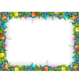 Easter Decorative Frame vector image vector image