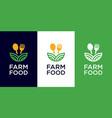 farm food logo design vector image vector image