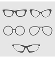 Glasses set Isolated Icons vector image