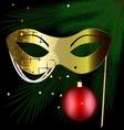 golden festive mask vector image vector image