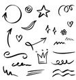 hand drawn set doodle elements for concept design