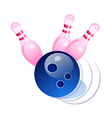 icon bowling vector image vector image