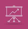 linear icon of presentation business board vector image