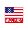 made in usa icon on american flag vector image vector image
