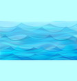 marine background with stylized blue waves vector image vector image