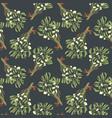 mistletoe seamless pattern vintage style vector image vector image