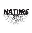 nature text and idea concept with leaves vector image vector image