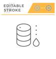 oil barrel line icon vector image vector image
