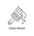 paint brush line icon linear concept vector image vector image