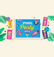 pool party background vector image vector image