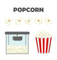 Popcorn set colorful constructor vector image